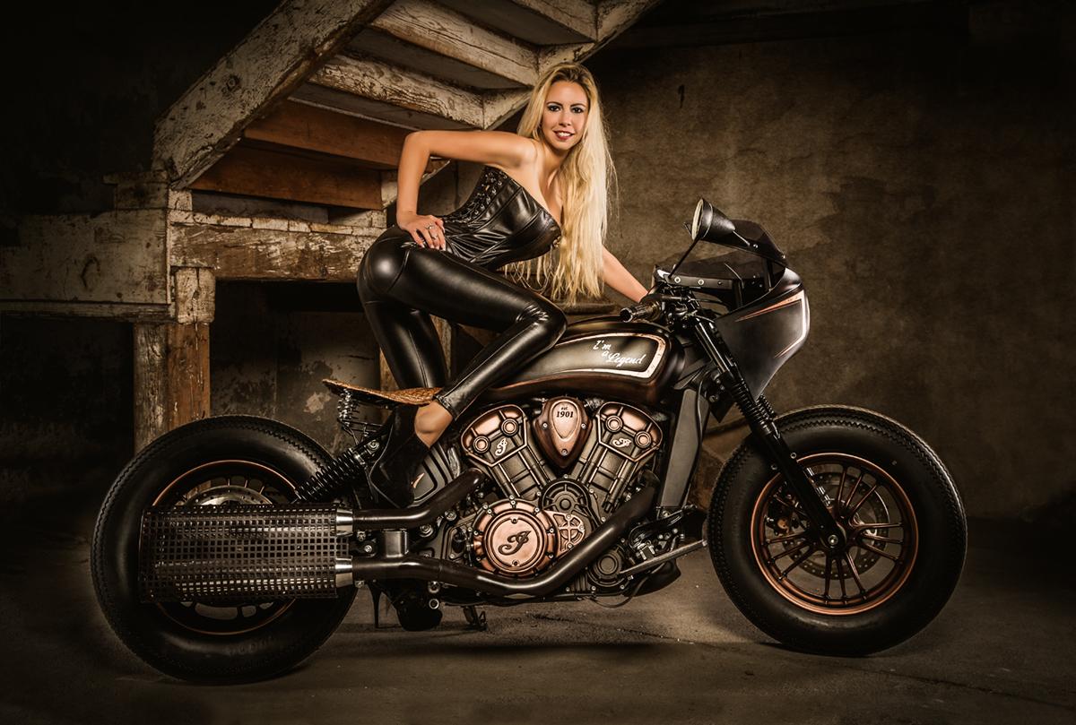 Motorrad-Fotohooting
